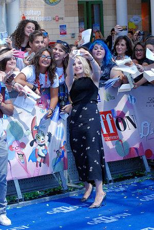 sa: Giffoni Valle Piana, Sa, Italy - July 18, 2016: Evanna Lynch at the Giffoni Film Festival 2016 - on July 18, 2016 in Giffoni Valle Piana, Italy Editorial