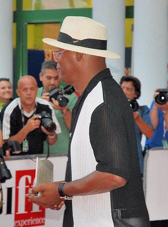 samuel: Giffoni Valle Piana, Sa, Italy - July 30, 2010 : Samuel L. Jackson at Giffoni Film Festival 2010 - on July 30, 2010 in Giffoni Valle Piana, Italy