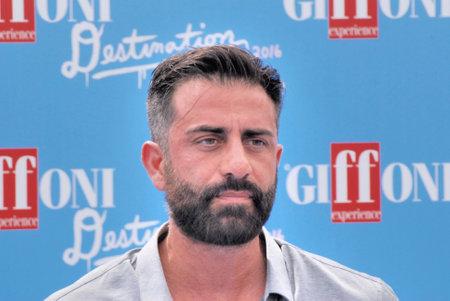Giffoni Valle Piana, Sa, Italy - July 23, 2016 : Simone Montedoro at Giffoni Film Festival 2016 - on July 23, 2016 in Giffoni Valle Piana, Italy