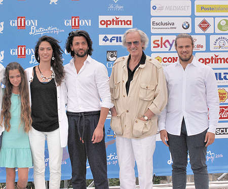 Giffoni Valle Piana, Sa, Italy - July 17, 2016 : Cast Movie Edhel at Giffoni Film Festival 2016 - on July 17, 2016 in Giffoni Valle Piana, Italy