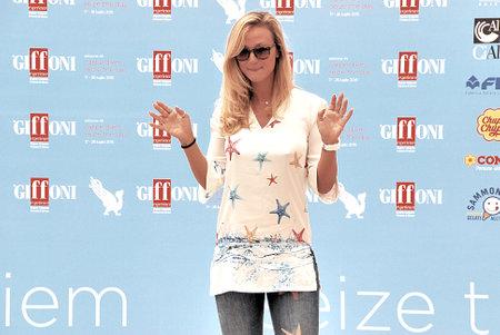 Giffoni Valle Piana, Sa, Italy - July 23, 2015 : Roberta Scardola at Giffoni Film Festival 2015 - on July 23, 2015 in Giffoni Valle Piana, Italy
