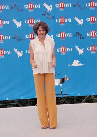ジッフォーニ ヴァッレ ・ ピアーナ、サレルノ、イタリア - 21 月 2014: クラウディア Gerini アル ジッフォーニ映画祭 2014 - イリノイ 21 月、ジッフォー