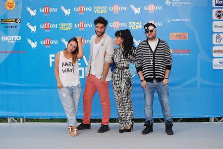 Giffoni Valle Piana, Salerno, Italia - 28 Luglio, 2013 : Elhaida Dani e Baby K al Giffoni Film Festival 2013 - il 28 Luglio, 2013 a Giffoni Valle Piana, Italia