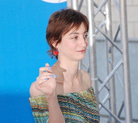 Giffoni Valle Piana, Salerno, Italia - 18 Luglio, 2012 : Francesca Inaudi al Giffoni Film Festival 2012 - il 18 Luglio, 2012 a Giffoni Valle Piana, Italia Editorial