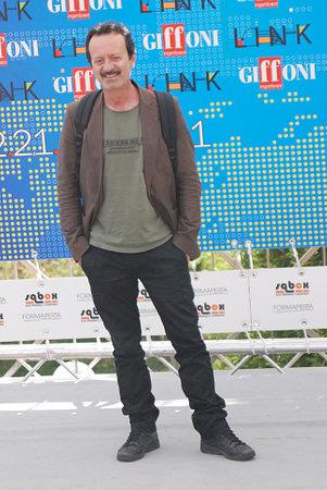 Giffoni Valle Piana, Salerno, Italia - 20 Luglio, 2011 : Rocco Papaleo al Giffoni Film Festival 2011 - il 20 Luglio, 2011 a Giffoni Valle Piana, Italia Editorial