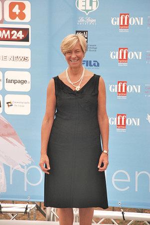 Giffoni Valle Piana, Salerno, Italia - 24 Luglio, 2015 : Roberta Pinotti al Giffoni Film Festival 2015 - il 24 Luglio, 2015 a Giffoni Valle Piana, Italia Editorial