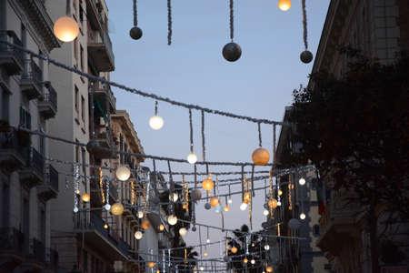 LUCI D'ARTISTA, SALERNO, SUD ITALIA. Stock Photo - 92427211
