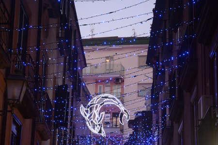 LUCI DARTISTA, SALERNO, SUD ITALIA. Stock Photo
