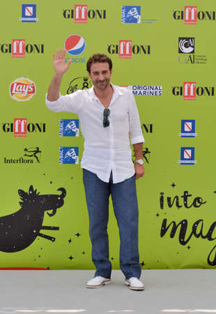 Giffoni Valle Piana, Sa, Italy - July 20, 2017 : Pio Stellaccio at Giffoni Film Festival 2017 - on July 20, 2017 in Giffoni Valle Piana, Italy Editorial