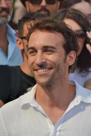 Giffoni Valle Piana, Sa, Italy - July 20, 2017 : Pio Stellaccio at Giffoni Film Festival 2017 - on July 20, 2017 in Giffoni Valle Piana, Italy Imagens - 94559412