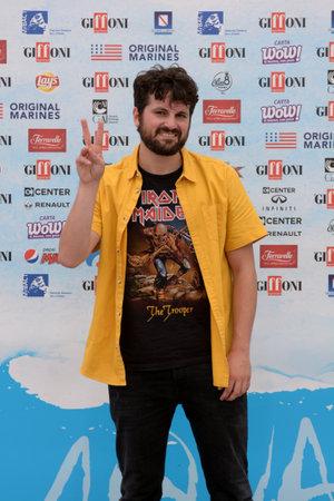 Giffoni Valle Piana, Sa, Italy - July 22, 2018 : Frank Matano at Giffoni Film Festival 2018 - on July 22, 2018 in Giffoni Valle Piana, Italy 版權商用圖片 - 109183007