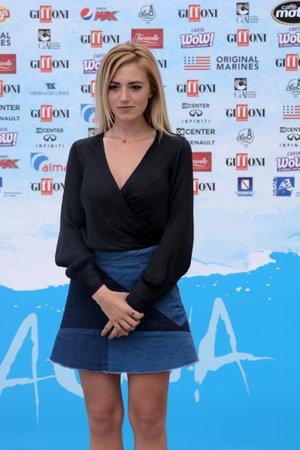 Giffoni Valle Piana, Sa, Italy - July 25, 2018 : Roberta Branchini at Giffoni Film Festival 2018 - on July 25, 2018 in Giffoni Valle Piana, Italy
