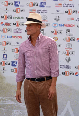 Giffoni Valle Piana, Sa, Italy - July 20, 2019 : Woody Harrelson at Giffoni Film Festival 2019 - on July 20, 2019 in Giffoni Valle Piana, Italy.