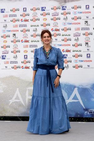 Giffoni Valle Piana, Sa, Italy - July 26, 2019 : Elena Sofia Ricci at Giffoni Film Festival 2019 - on July 26, 2019 in Giffoni Valle Piana, Italy. Editorial