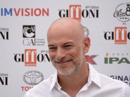 Giffoni Valle Piana, Sa, Italy - July 27, 2019 : Filippo Nigro at Giffoni Film Festival 2019 - on July 27, 2019 in Giffoni Valle Piana, Italy.
