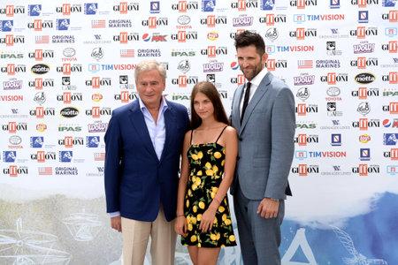 Giffoni Valle Piana, Sa, Italy - July 21, 2019 : Mickey Shapiro, Zuzanna Surowy and Steven Oritt at Giffoni Film Festival 2019 - on July 21, 2019 in Giffoni Valle Piana, Italy. Editorial