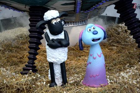 Giffoni Valle Piana, Sa, Italy - July 22, 2019 : Cast Movie :  Shaun the Sheep : Farmageddon   at Giffoni Film Festival 2019 - on July 22, 2019 in Giffoni Valle Piana, Italy.