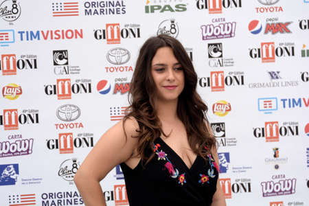 Giffoni Valle Piana, Sa, Italy - July 22, 2019 : Chiara Pia Aurora at Giffoni Film Festival 2019 - on July 22, 2019 in Giffoni Valle Piana, Italy.