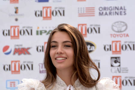 Giffoni Valle Piana, Sa, Italy - July 20, 2019 : Elisa Visari at Giffoni Film Festival 2019 - on July 20, 2019 in Giffoni Valle Piana, Italy. Editorial