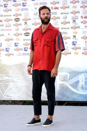 Giffoni Valle Piana, Sa, Italy - July 25, 2019 : Alessandro Borghi at Giffoni Film Festival 2019 - on July 25, 2019 in Giffoni Valle Piana, Italy.