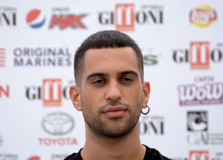 Giffoni Valle Piana, Sa, Italy - July 27, 2019 : Mahmood at Giffoni Film Festival 2019 - on July 27, 2019 in Giffoni Valle Piana, Italy.