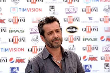 Giffoni Valle Piana, Sa, Italy - July 24, 2019 : Daniele Silvestri at Giffoni Film Festival 2019 - on July 24, 2019 in Giffoni Valle Piana, Italy. Editorial