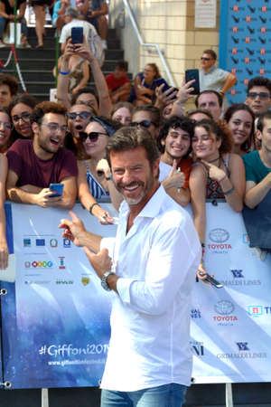 Giffoni Valle Piana, Sa, Italy - July 23, 2019 : Paolo Conticini at Giffoni Film Festival 2019 - on July 23, 2019 in Giffoni Valle Piana, Italy. Editorial