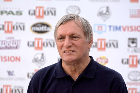 Giffoni Valle Piana, Sa, Italy - July 20, 2019 : Don Luigi Ciotti at Giffoni Film Festival 2019 - on July 20, 2019 in Giffoni Valle Piana, Italy.