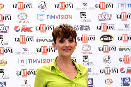 Giffoni Valle Piana, Sa, Italy - July 24, 2019 : Lucia Ocone at Giffoni Film Festival 2019 - on July 24, 2019 in Giffoni Valle Piana, Italy. Editorial