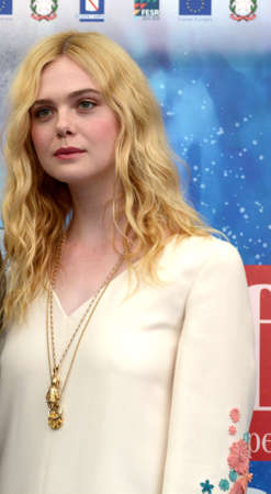 Giffoni Valle Piana, Sa, Italy - July 22, 2019 : Elle Fanning at Giffoni Film Festival 2019 - on July 22, 2019 in Giffoni Valle Piana, Italy. Editorial