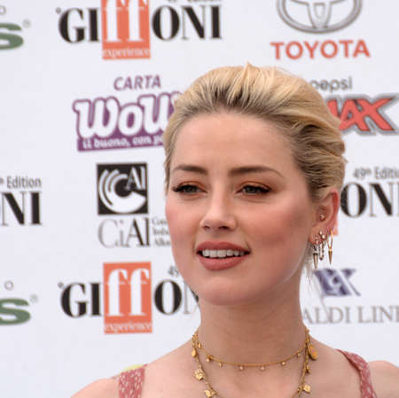 Giffoni Valle Piana, Sa, Italy - July 25, 2019 : Amber Heard at Giffoni Film Festival 2019 - on July 25, 2019 in Giffoni Valle Piana, Italy.