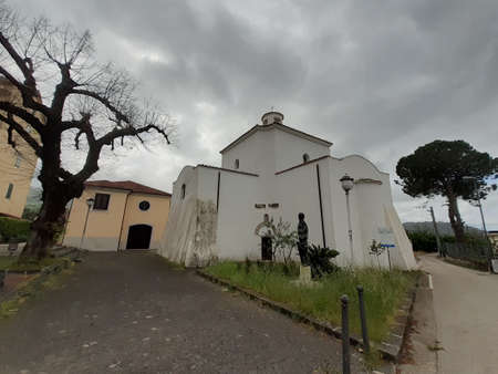 Italy : Urban landscape in Giffoni Valle Piana,at the time of coronavirus,May 4,2020.