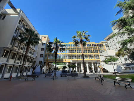 Italy : View of Salerno Hospital, May 7, 2020.