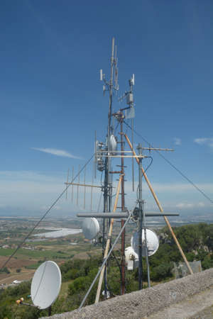 Italy : View of Communications Tower, in Campania, May 2020. Editoriali
