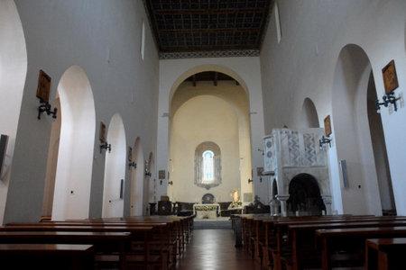 Italy : Interior view of Madonna Del Granato Church in Capaccio Paestum,May 15, 2020.