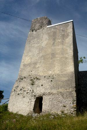 Italy : View of Tubenna Sanctuary in Castiglione Del Genovesi,June 8, 2020. Editoriali