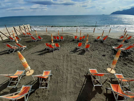 Italy : Summer on a solitary beach at the time of coronavirus,June 21,2020.