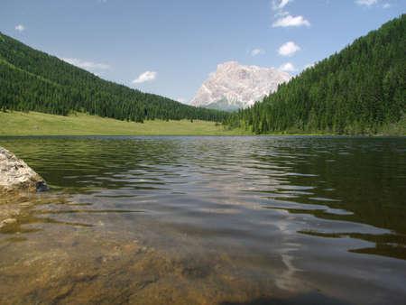 Lago di Calaita - Dolomiti Stock Photo