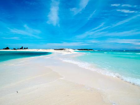 A tropical white beach in Cayo de Agua (Los Roques Archipelago, Venezuela).