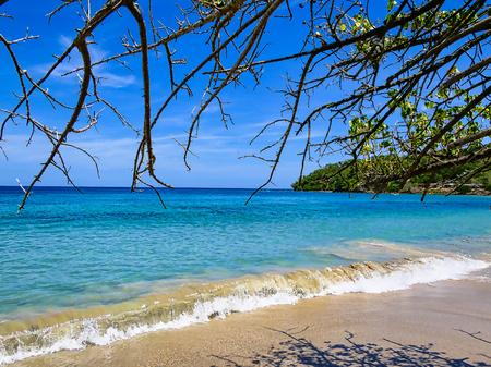 Travel photography - seascape in Chuspa beach (Vargas, Venezuela). Stock Photo