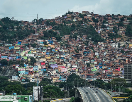 Travel photography - view of a popular suburb in Caracas. 写真素材