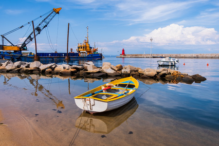 Giglio island (Grosseto), Italy, 05.20.2018: view of the little port in the village.