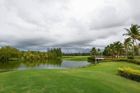 View of a golf course during a cloudy day (Punta Cana, Dominican Republic).