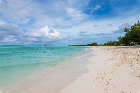 View of Coco Plum beach in Great Exuma (Bahamas).