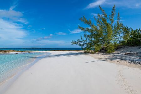 View of the iguanas beach in Allen's Cay (Great Exuma, Bahamas).