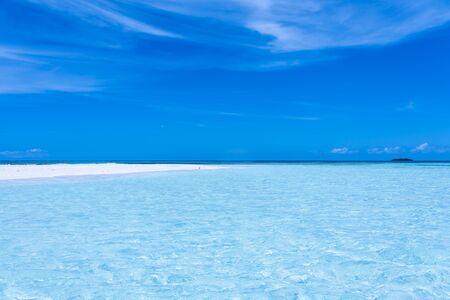 Tropical white beach in Cayo Los Viejos (Saki Saki) in the caribbean sea (Los Roques Archipelago, Venezuela).