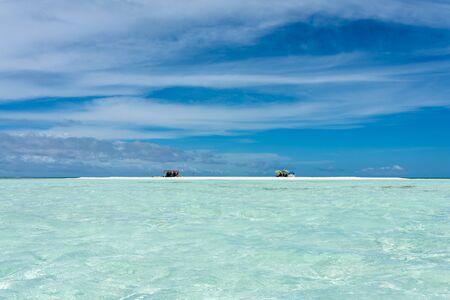 View of a little tropical island called Cayo Los Viejos (Saki Saki) in the caribbean sea (Los Roques Archipelago, Venezuela).