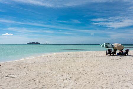 Tropical beach in Cayo Los Viejos (Saki Saki) in the caribbean sea (Los Roques Archipelago, Venezuela).