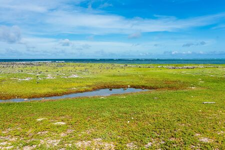 View of a little tropical island called Cayo Vapor in the caribbean sea (Los Roques Archipelago, Venezuela).