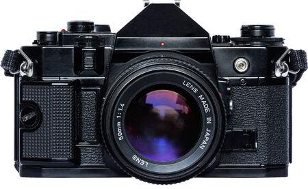 folding camera: Old Reflex Camera Stock Photo